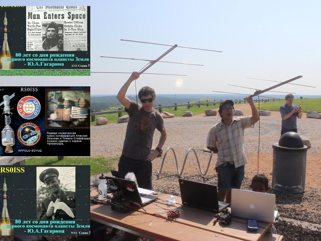 ISS SSTV Blog post Image - Sammy Jim and me